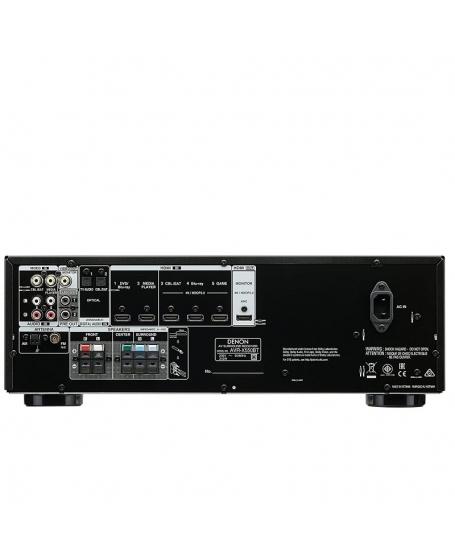 Denon AVR-X250BT 5.1Ch 4K Bluetooth AV Receiver (Opened Box New)
