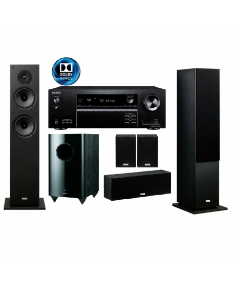 Onkyo TX-SR393 + Onkyo SK4800 Series 5.1 Dolby Atmos Home Theatre Package