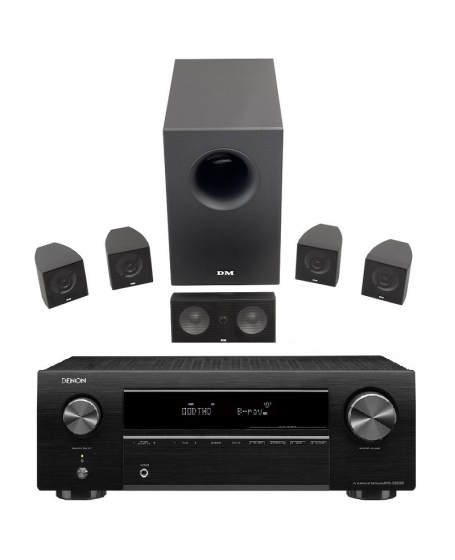 Denon AVR-X250BT + DM Dream Series X1 Home Theatre Package