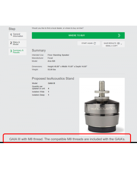 IsoAcoustics Products Recommendation Wizard