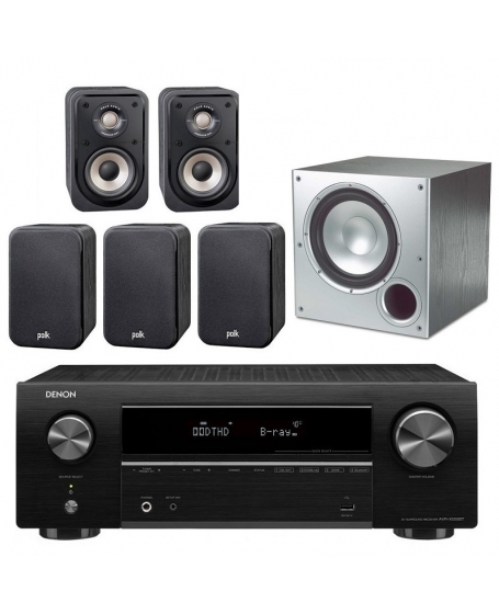 Denon AVR-X550BT + Polk Audio S10e + PSW10 Home Theatre Package