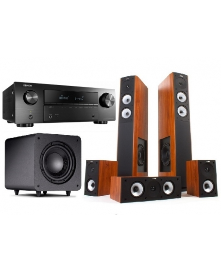 Denon AVR-X550BT + Jamo S626HCS + Polk Audio PSW 111 Home Theatre Package