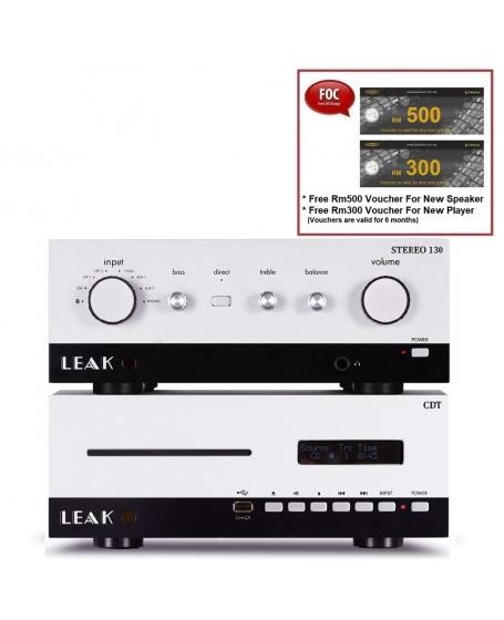 Leak Stereo 130 Integrated Amplifier + Leak CDT CD Player (Silver)
