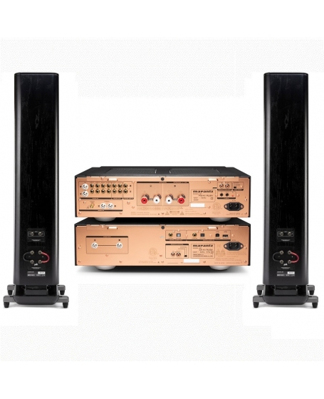 Marantz PM & SA KI Ruby + Polkaudio Legend L600 Hi-Fi System Package (Black)