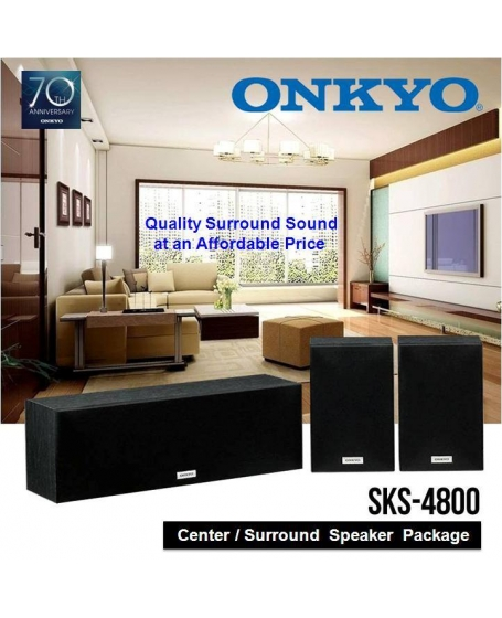 Onkyo SKS-4800 Bookshelf/Center Channel Speaker