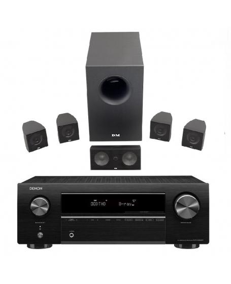 Denon AVR-X250BT + DM Dream Series X1 5.1Ch Home Theatre Package