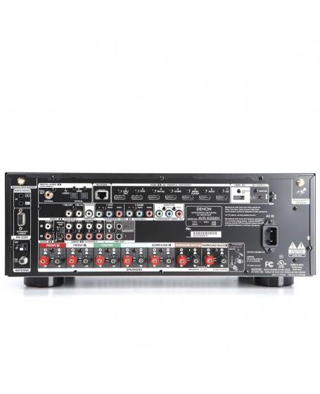 Denon AVR-X2500H 7.2Ch Atmos Network Av Receiver (Opened Box New)