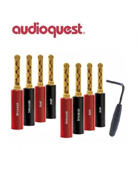 Audioquest SureGrip 100 BFA/Banana Gold (Pack Of 8)