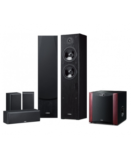 Yamaha RX-V385 + Yamaha NS-51 + NS-SW300 5.1Ch Home Theatre Package