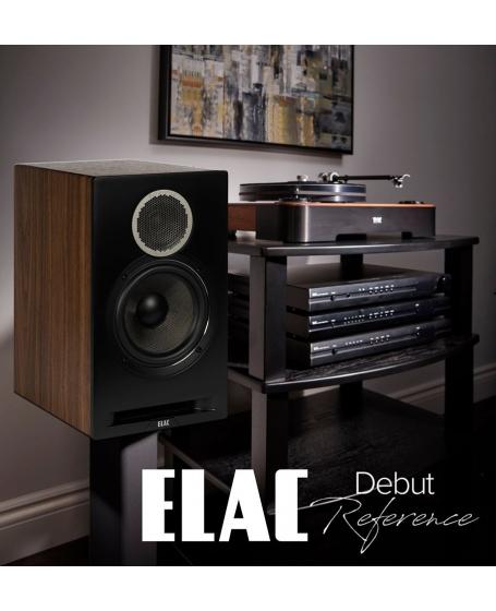 ELAC Debut Reference DBR62 Bookshelf Speaker (Black)