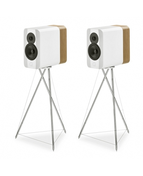 Q Acoustics Concept 300 Bookshelf Speakers With Original Stands