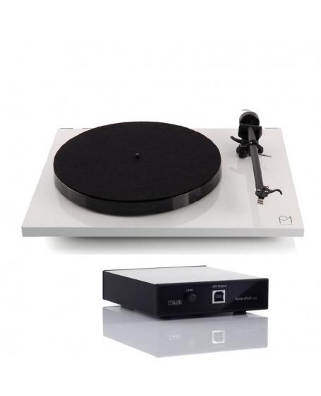 Rega Planar 1 Turntable + Fono Mini A2D MK2 Phono Pre Amp Combo