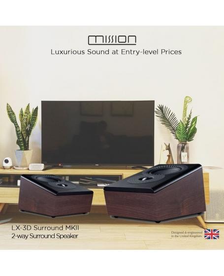 Mission LX-3D MKII Surround Speaker