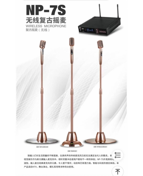 Pro Ktv 7S Classic Standing Wireles Microphone