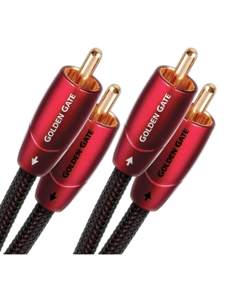 ( Z )Audioquest Golden Gate RCA to RCA Interconnects 1.5Meter ( PL ) Sold 6/3/21
