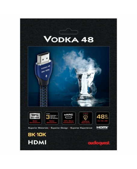 AudioQuest Vodka 48 8K HDMI Cable 2 Meter