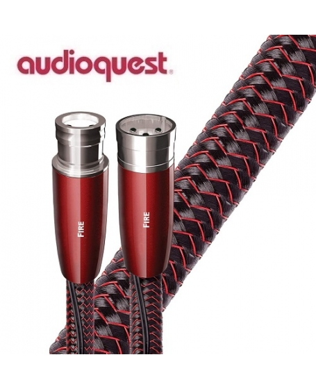 Audioquest Fire XLR to XLR Analog Audio Interconnect Cable 1.5Meter (Pair) Made In USA