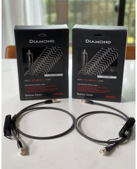 Audioquest Diamond Digital Coax BNC To BNC Cable 1.5Meter Made In USA