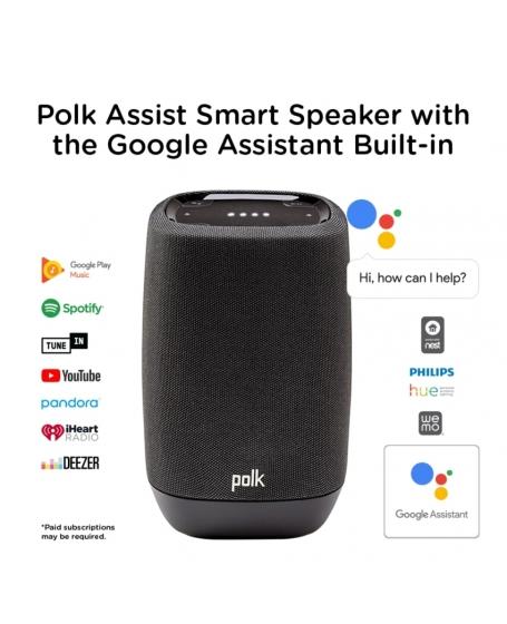 Polk Assist Smart Speaker with the Google Assistant Built-In ( DU )