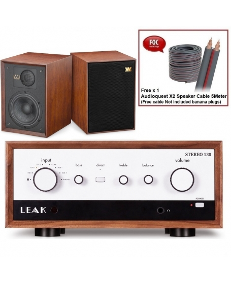 Leak Stereo 130 + Wharfedale Denton 85th Anniversary Hi-Fi System Package