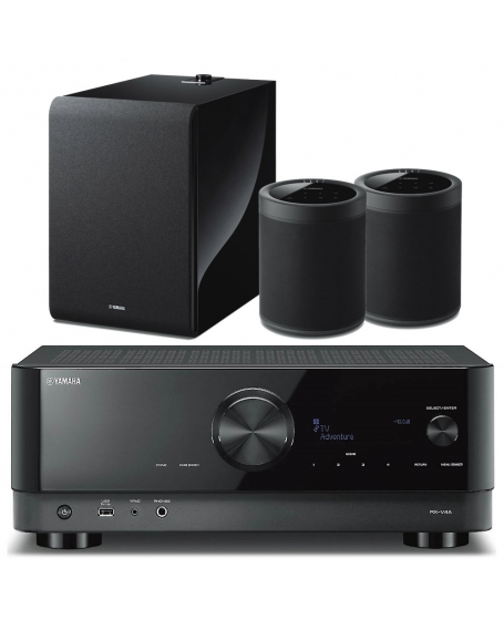 Yamaha RX-V4A Wireless Surround & Wireless Subwoofer Package