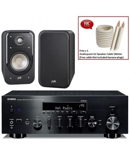 Yamaha R-N803 + Polk Audio Signature S20 Hi-Fi System Package