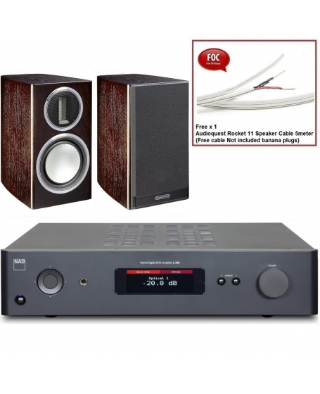 NAD C 368 + Monitor Audio Gold 50 4G Hi-Fi System Package