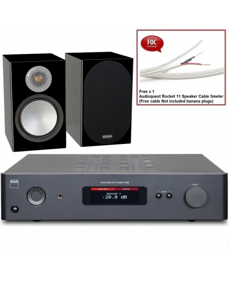 NAD C 368  + Monitor Audio Silver 100 Hi-Fi System Package