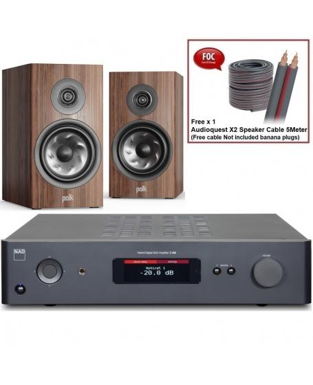 NAD C 368 + Polk Audio Reserve R200 Hi-Fi System Package