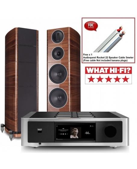 NAD M33 + Wharfedale Elysian 4 Hi-Fi System Package