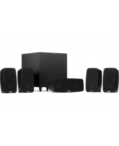 Klipsch Reference Theater Pack 5.1Ch Satellite Speaker Package With R-8SW Subwoofer (DU)