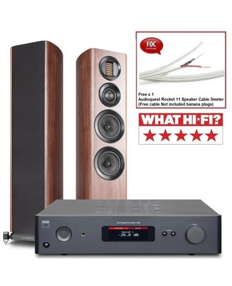 NAD C 368 + Wharfedale EVO 4.3 Hi-Fi System Package