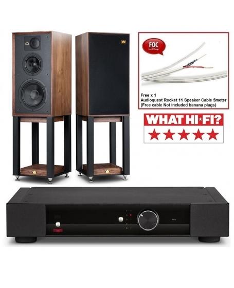 Rega Elex-R + Wharfedale Linton 85th (Mahogany) Hi-Fi System Package