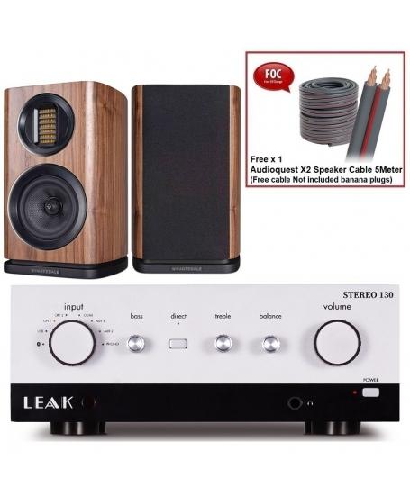 Leak Stereo 130 (Silver) + Wharfedale EVO 4.1 Hi-Fi System Package