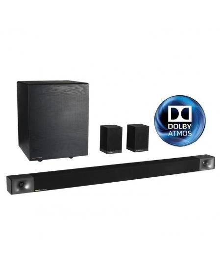 Klipsch Cinema 800 5.1 Dolby Atmos® Sound Bar + Surround Sound System