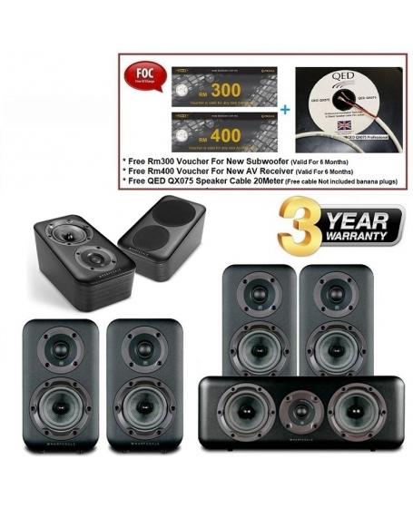 Wharfedale D320 + D300C + D310 + D300 3D Speaker Package