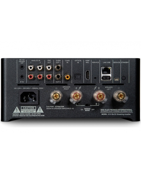 NAD M10 BluOS Streaming Amplifier (Opened Box New)