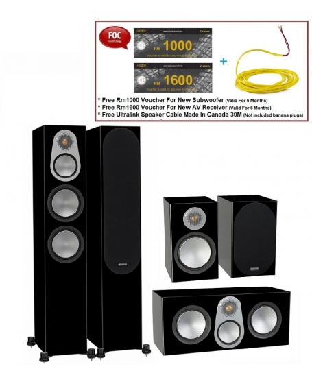 Monitor Audio Silver 300 + Silver C350 + Silver 100 Speaker Package