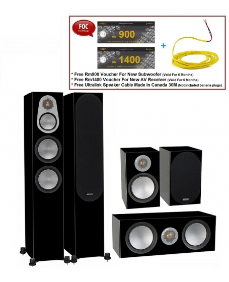 Monitor Audio Silver 300 + Silver C150 + Silver 50 Speaker Package