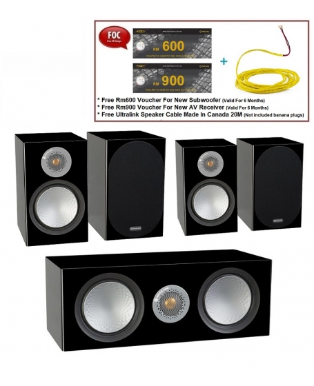 Monitor Audio Silver 100 + Silver C150 + Silver 50 Speaker Package