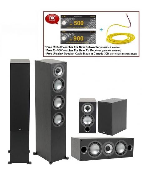 ELAC Uni-Fi 2.0 UF52 + Uni-Fi 2.0 UC52 + Uni-Fi 2.0 UB52 Speaker Package