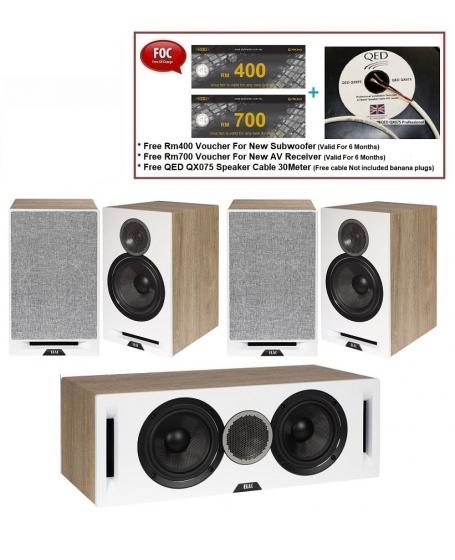 ELAC Debut Reference DBR62 + Debut Reference DCR52 + Debut Reference DBR62 Speaker Package
