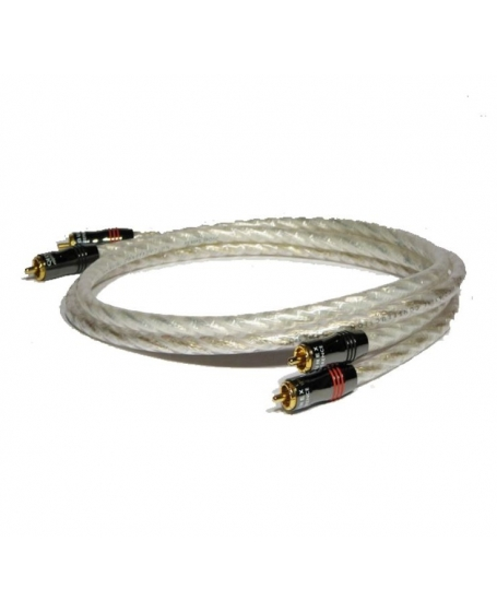 QED Qunex Silver Spiral Interconnect Cable 1M (PL)