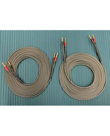 Audioquest X2 Grey Speaker Cable 12m With Suregrip 100 Banana Plugs 6m x 2 ( PL )