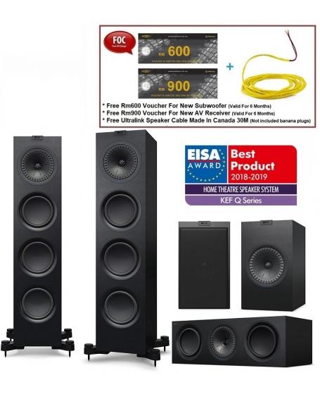 KEF Q750 + Q650 + Q150 Speaker Package