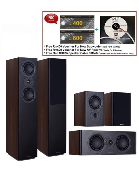 Mission LX-5 MKII+LX-C2 MKII+LX-3 MKII Speaker Package