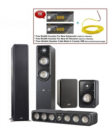 Polk Audio Signature S55 + S35 + S15 Speaker Package