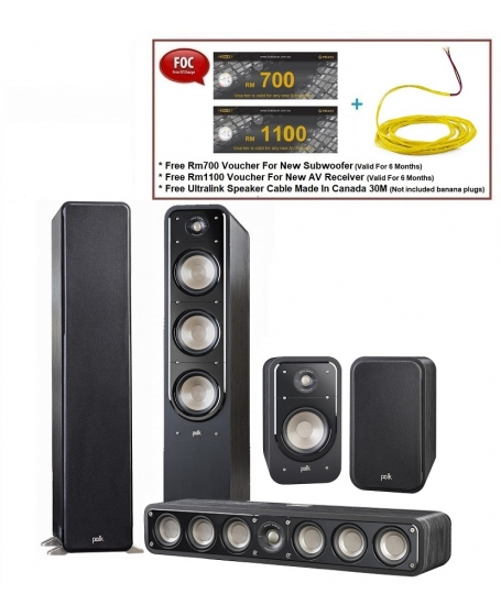 Polk Audio Signature S60 + S35 + S20 Speaker Package