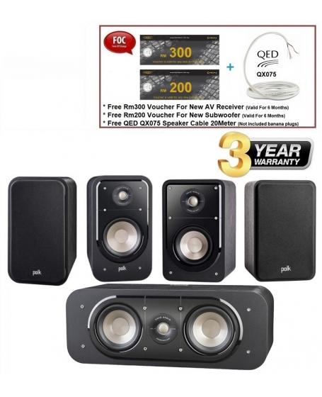 Polk Audio Signature S20 + S30 + S15 Speaker Package