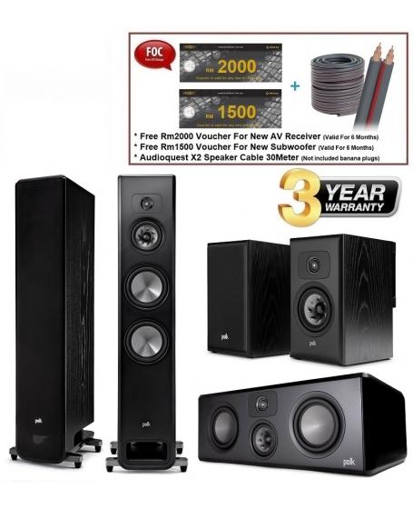 Polk Audio Legend L600 + L400 + L100 Speaker Package
